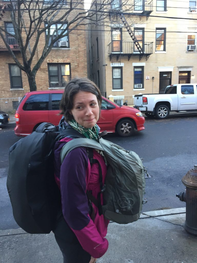 Natalie with the Osprey Porter 46L
