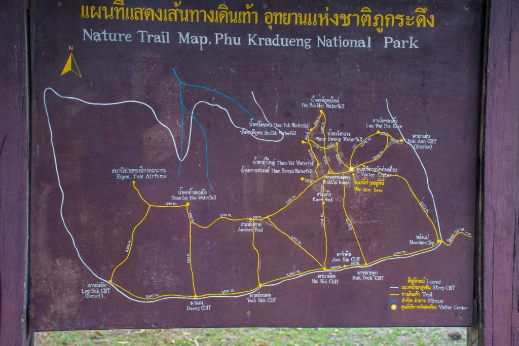The Map of the Top of Phu Kradueng