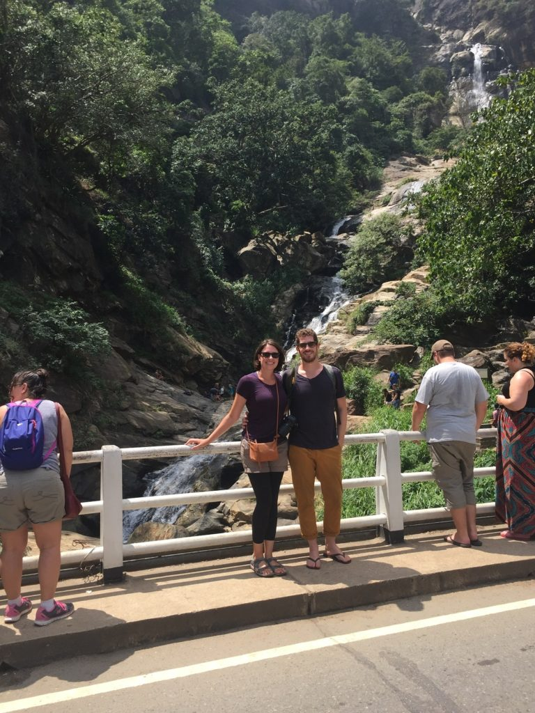 visiting ravana falls in Ella Sri Lanka