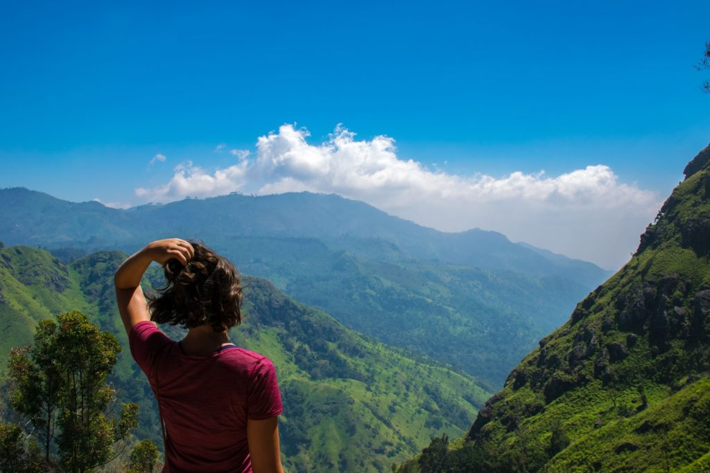 Climbing Ella rock on a 3 week Sri Lanka itinerary
