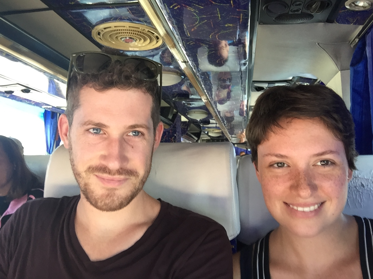On a bus in Thailand