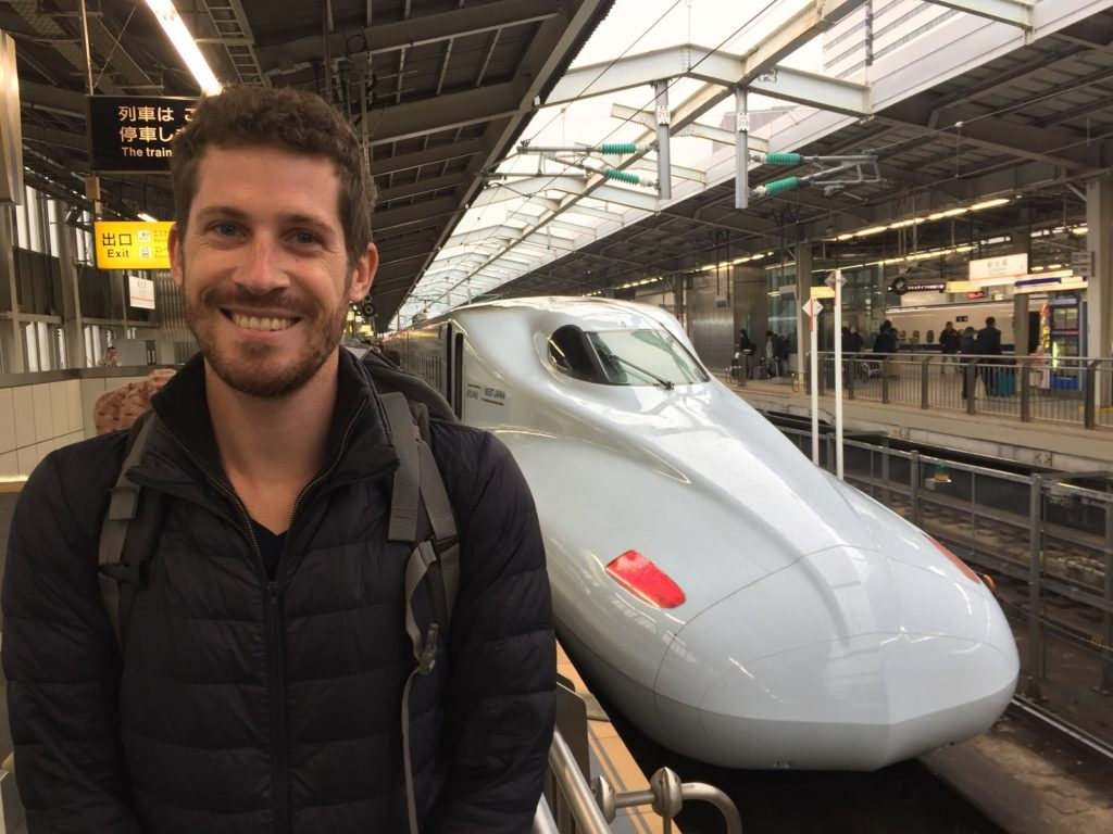 The shinkansen while spending our two weeks in Japan