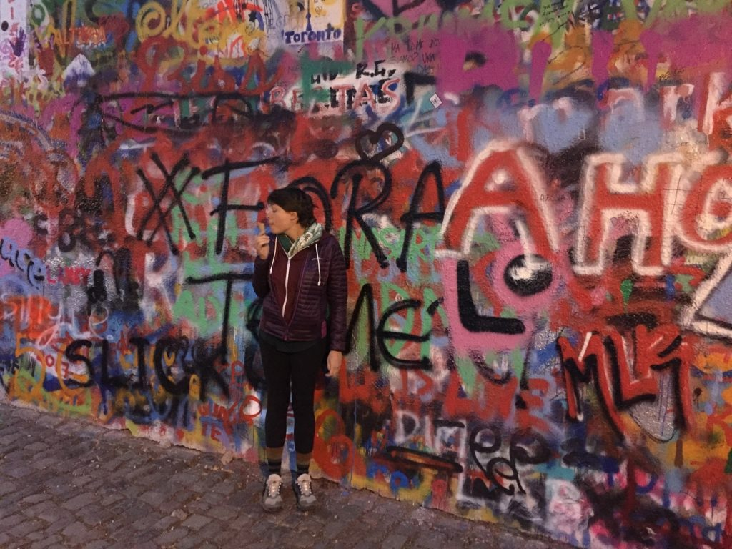 Going to see the Lenin Wall in Prague was one of the things to do in Prague