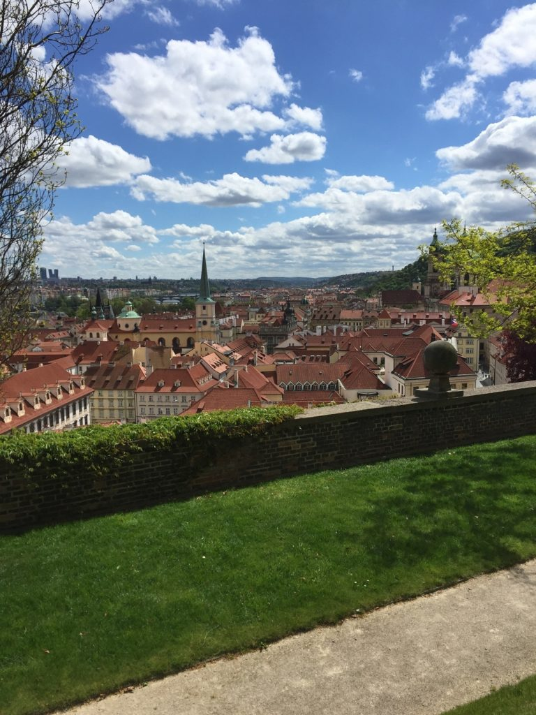 The view of Prague from Prague Castle