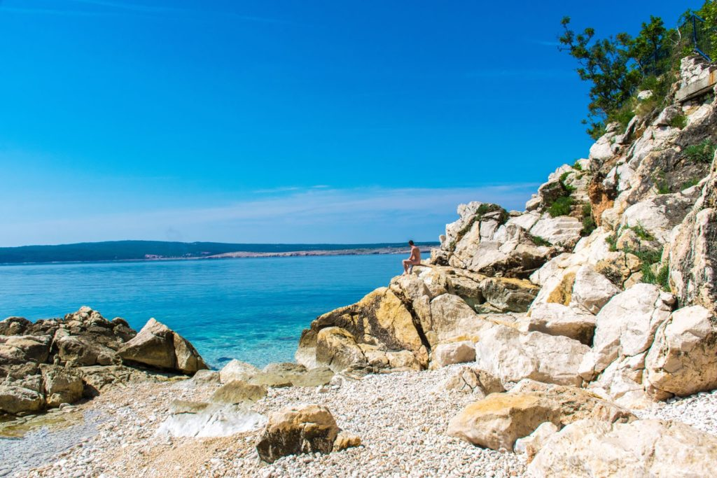 Things to do in Istria include sitting on a beautiful beach.