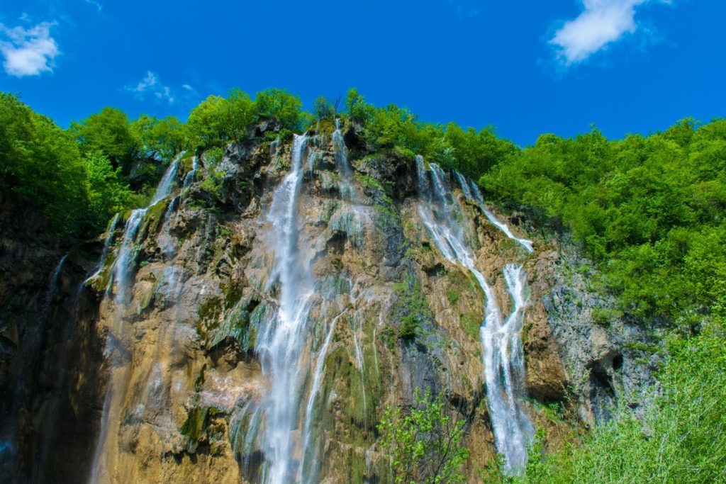 waterfalls we saw on a Croatia vacation
