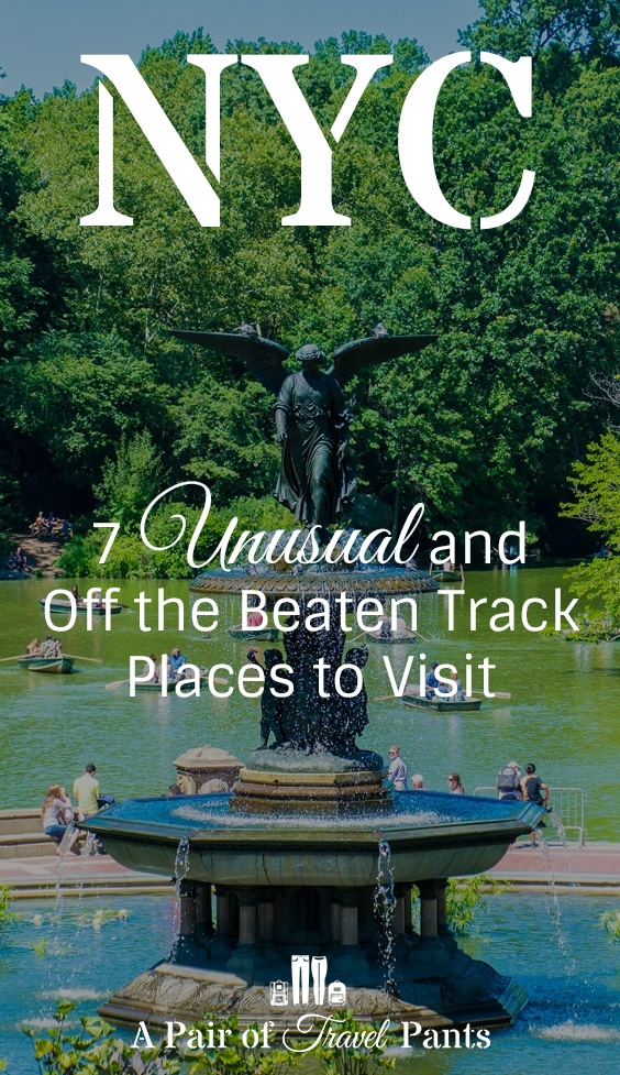 Pinterest pin for 7 off the beaten path nyc attractions