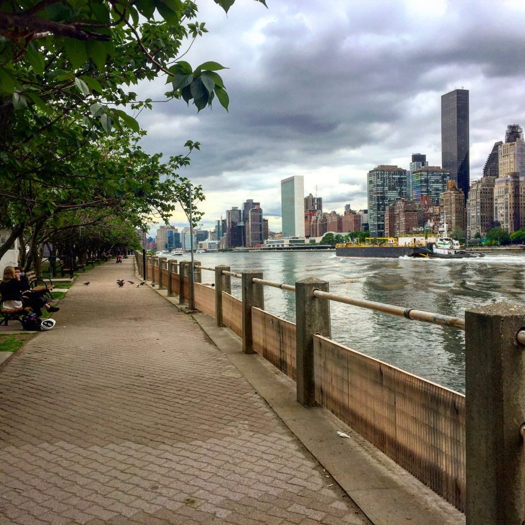 Local NYC skyline from Roosevelt Island