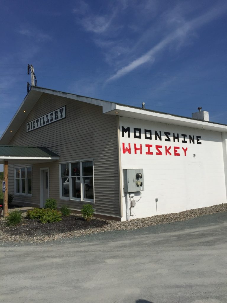 Moonshine in New York State's Lake George area.