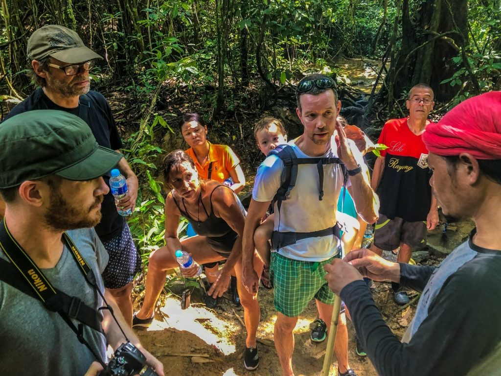 a group ready to go hiking in khao sok national park