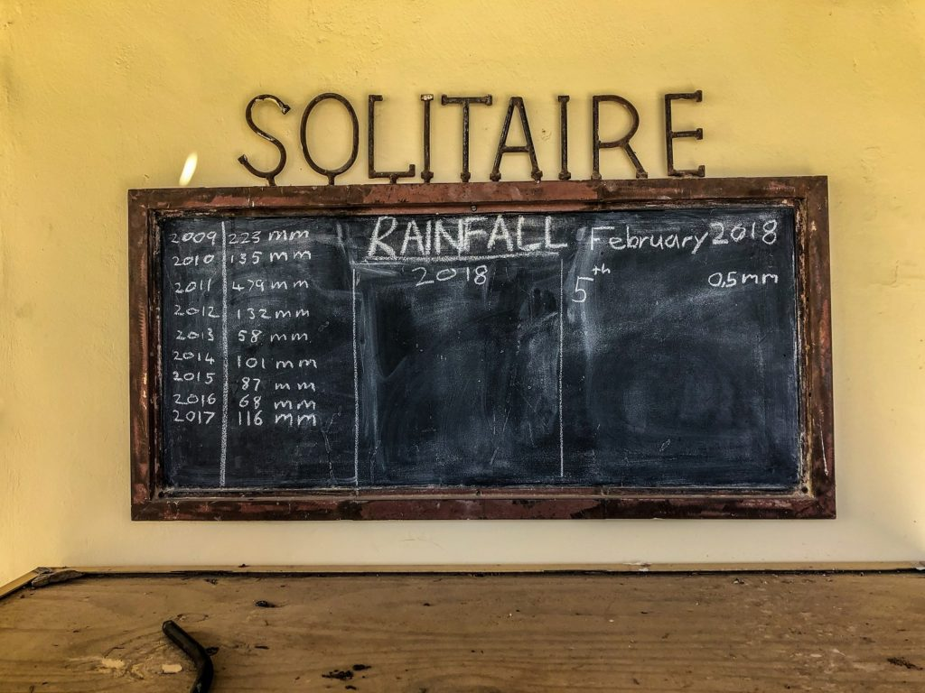 Rainfall in Solitaire