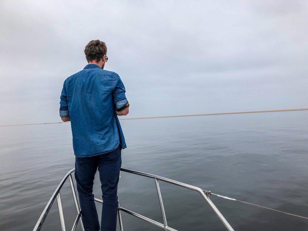 Jackson on a Catamaran