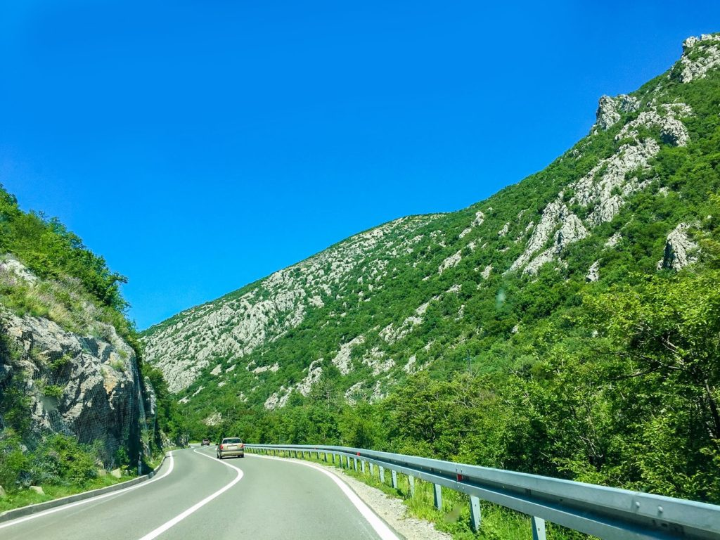 Twisting roads in Croatia