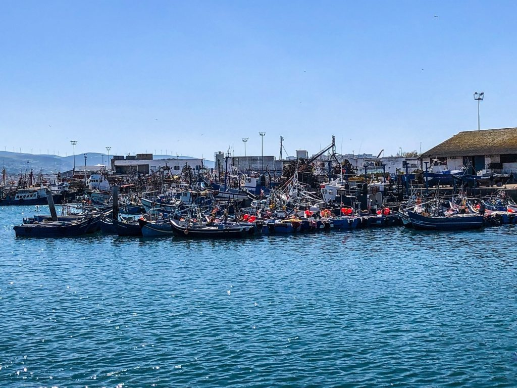 Fishing port in Tangier.