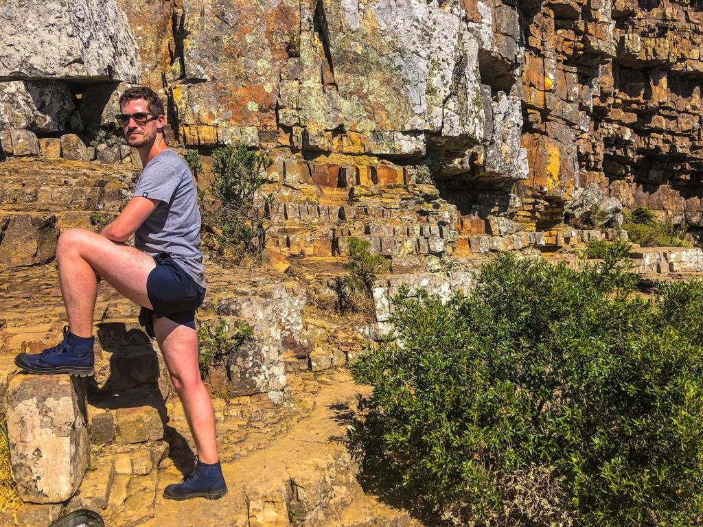 Hiking table mountain pose