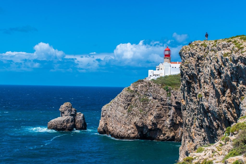 Lighthouse in Algarve Portugal