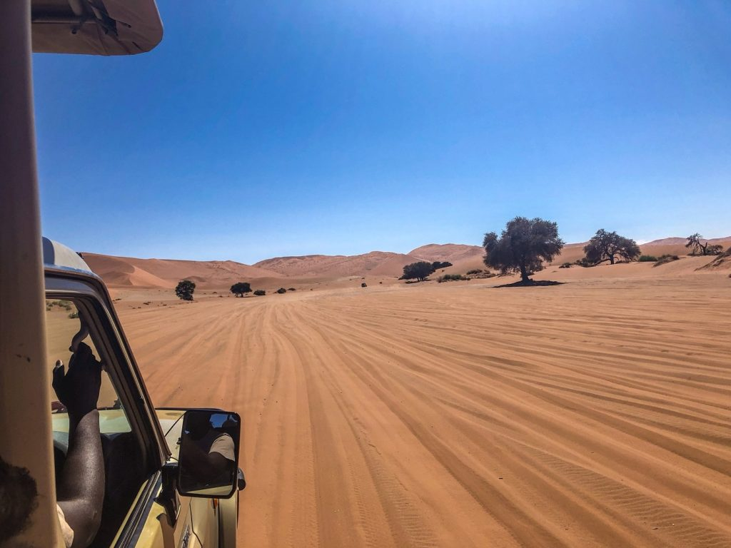 Sand road in Sossusvlei