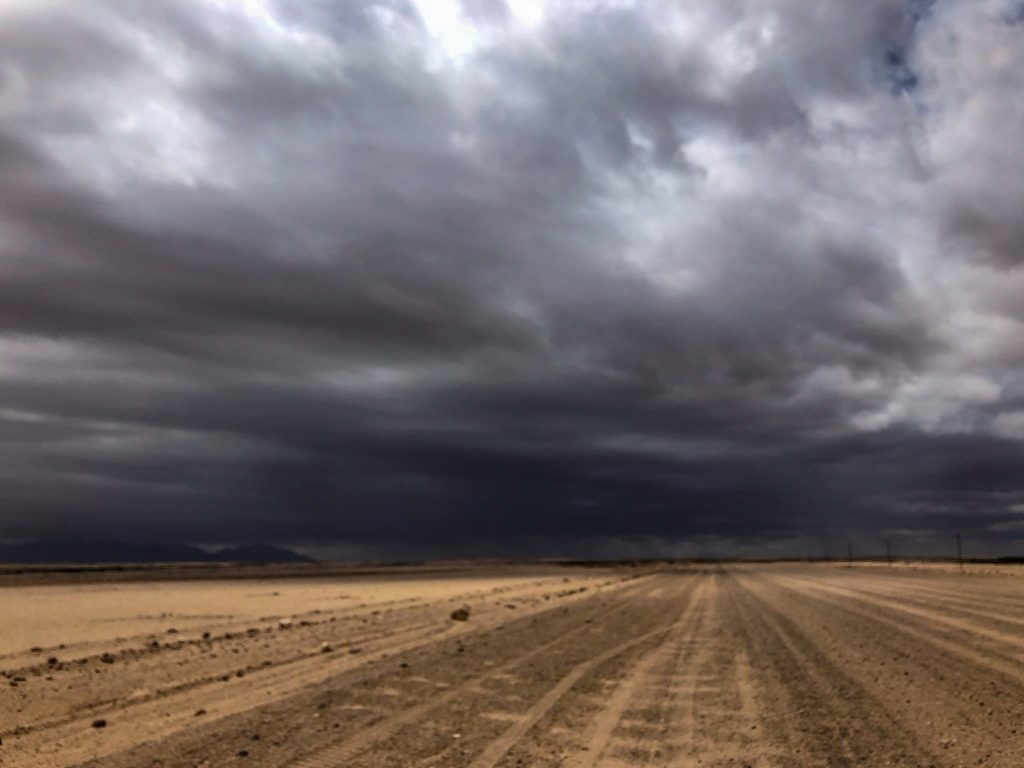 Storm clouds in the desert