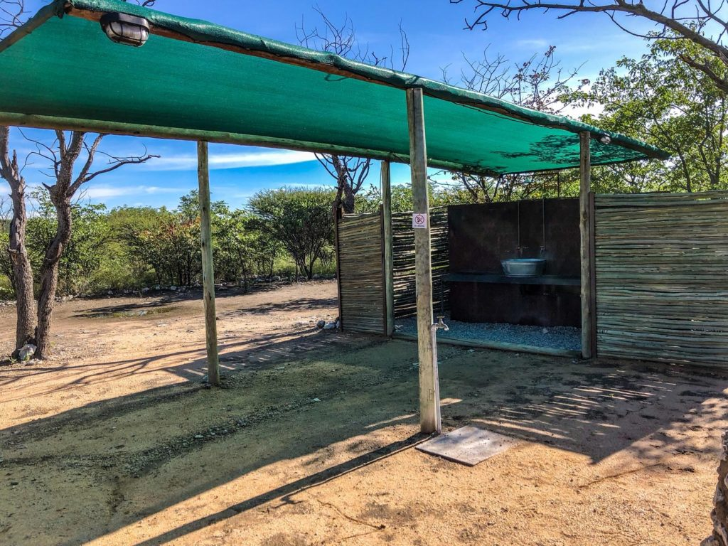 Mopane Village Lodge campsite in Namibia