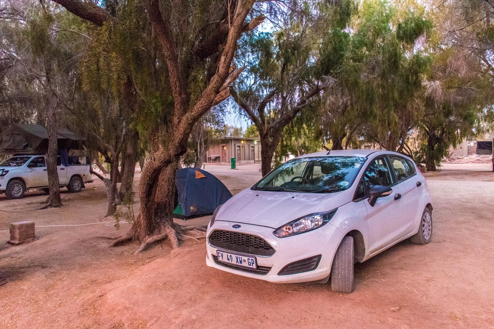Our campsite in Namibia