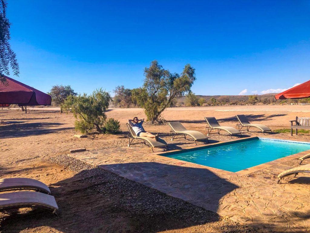 A Pool at Hobas Campsite in Namibia