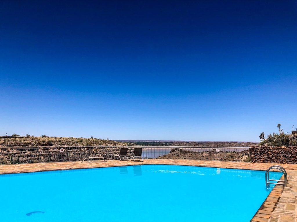 Pool at Hardap Dam in Namibia
