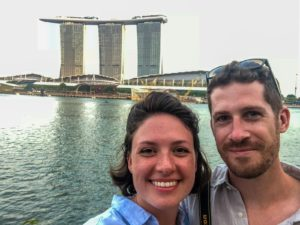 Natalie and Jackson in Singapore