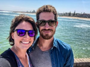 Natalie and Jackson in Swakopmund