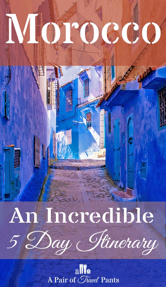 Pinterest pin for 5 day morocco itinerary