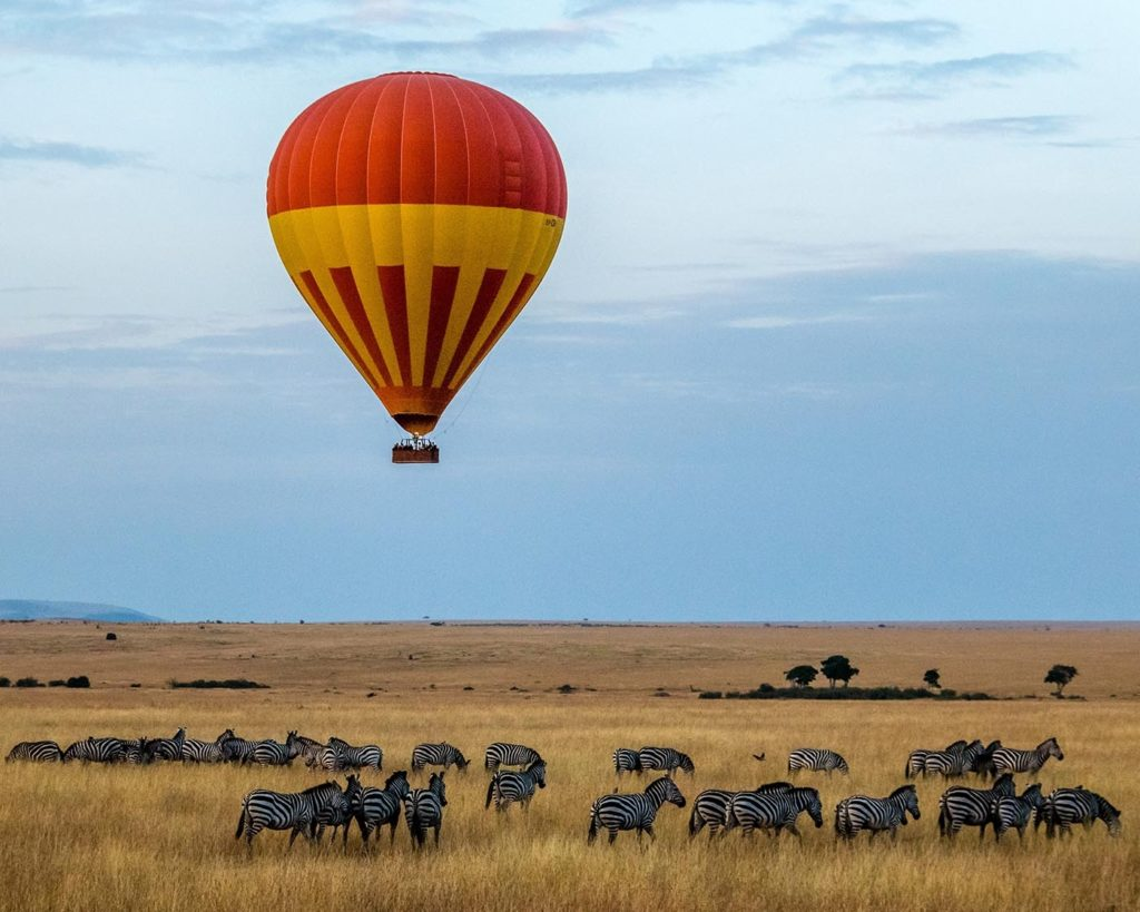 Hot air balloon over Kenya