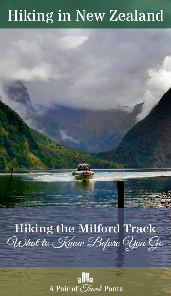 Hiking the Milford Track Pinterest pin