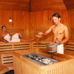coed sauna interior