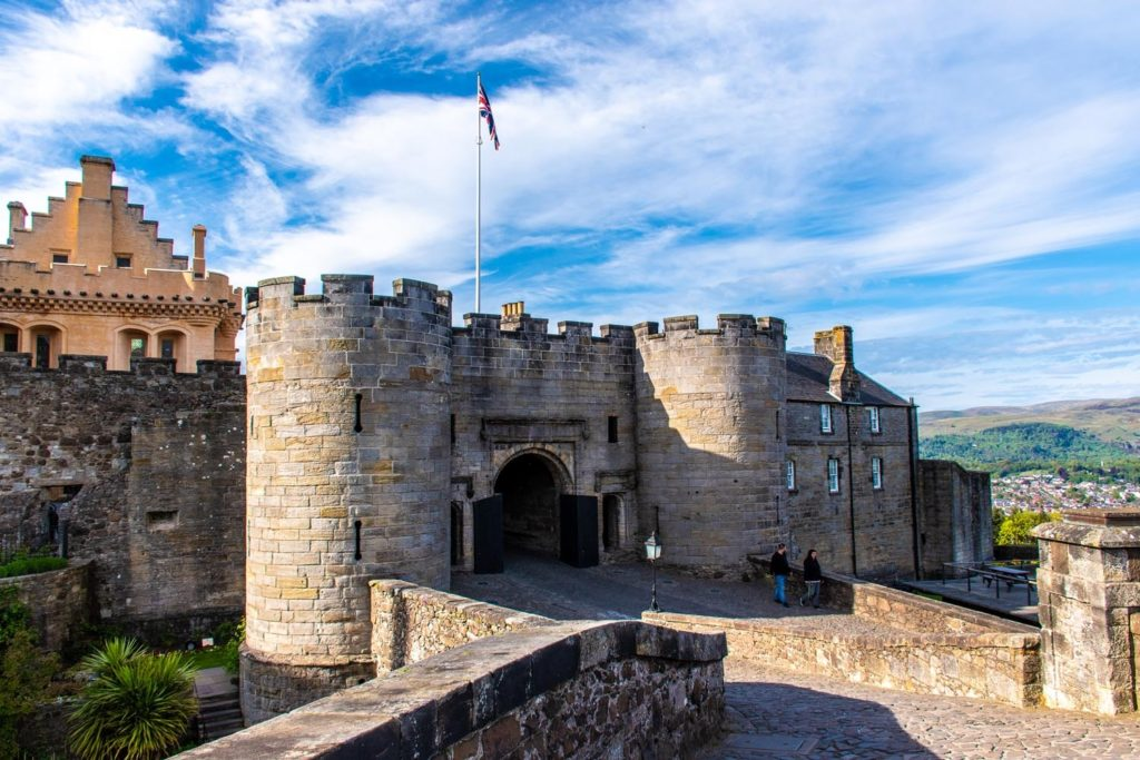 Stirling Castle on a road trip in Scotland
