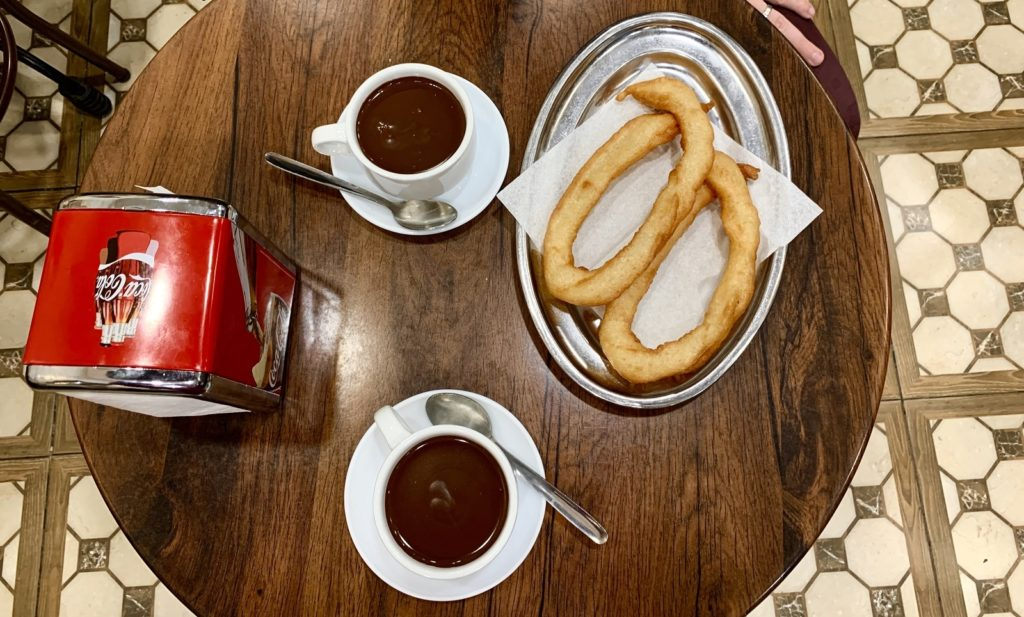 Chocolate and churros while spending a 2 day itinerary in Malaga